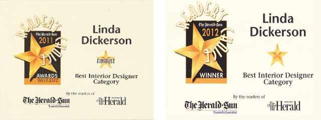 In Additon She Was Voted Best Interior Designer In 2012 By The Readers Of  The Herald Sun Newspaper. She Was Honored With This Same Distinction In  Previous ...